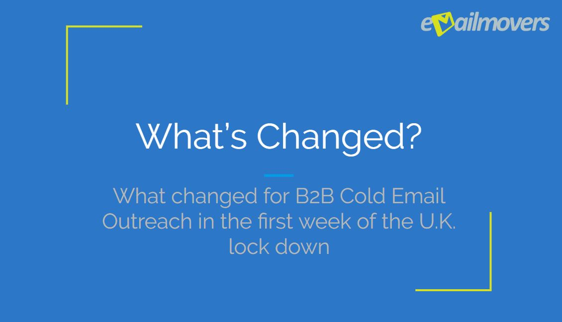 What's changed with B2B email marketing during the lock down