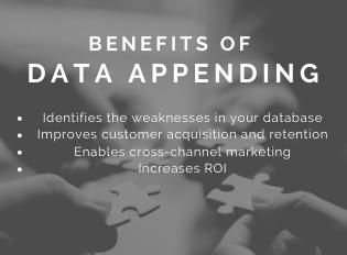 Benefits of data appending