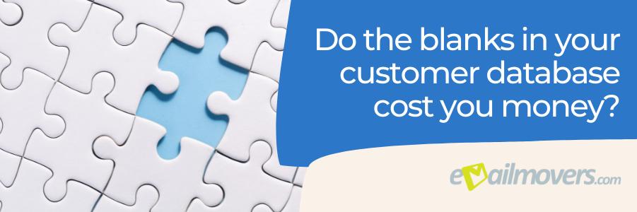 blanks in customer database